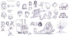 Since returning from the conference a few weeks ago, I have been sketching a ton during all hours of the day. Some of my fellow illustrators are doing a daily sketch and posting so I thought I would post them at the end of the week. I am hoping to do this posting weekly with some in color. Here is my first batch. (©2012 Russ Cox | Smiling Otis Studio)