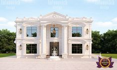 Modern age palace is waiting for its King. Strong exterior highlight the stylistic preferences of the owner. Classic House Exterior, Classic House Design, Modern House Design, Bungalow House Design, House Front Design, Duplex Design, Brick House Plans, House Plans Mansion, African House