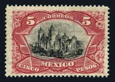 Mexico, 1899, 5p Carmine & Black, Scott Nos. 303, n.h., fresh color, very fine (Photo). Scott $950 (prorata). Estimate$200-300.  Lot condition **  Dealer Harmer-Schau  Auction Starting Price: 140.00 US$