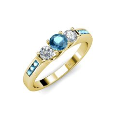Your big day, our small details. #Blue #Topaz & #Diamond 3 Stone #Engagement #Ring  #Birthstone #love #gift #christmas #trijewels