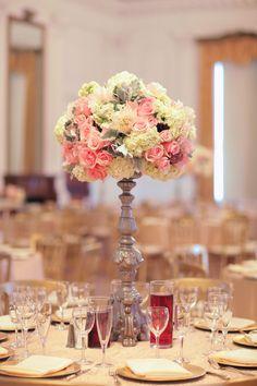 Simply Beautiful Wedding Centerpiece.   Photo by Desi Baytan Photography.  #wedding #weddingvenues #centerpieces