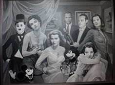 Old Fashion Black and White Oil Painting by Elizabeth Shafer