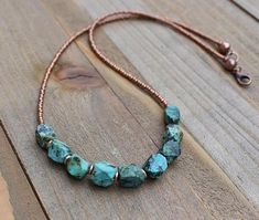 Turquoise necklace, raw turquoise jewelry, turquoise jewelry, copper jewelry, southwestern jewelry, December birthstone