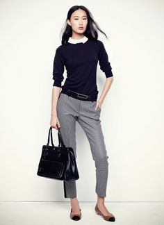 A closer look at the Ann Taylor Spring 2014 collection from designer Lisa Axelson. High Street Fashion, Work Fashion, Fashion Details, Fall Fashion, Fashion Trends, Fall Outfits For Work, Spring Outfits, Spring Summer Fashion, Spring 2014