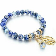 Oval Natural Stone Bracelet For Women Couple Gold color Crystal Beads Bracelets & Bangles Best Love Jewelry 2016 Gemstone Bracelets, Gemstone Jewelry, Bangle Bracelets, Beaded Jewelry, Link Bracelets, Blue Bracelets, Silver Jewelry, Bracelet Designs, Women Jewelry