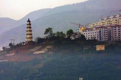 Wu- Gorge - Pagoda is just barely above the 175m mark for flooding.