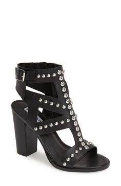 Steve Madden 'Serenna' Studded Caged Leather Sandal (Women) available at #Nordstrom