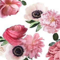 Buy Mixed Pink Garden Flowers Wall Decal by Urban Walls at Indigo.ca. Free Shipping on Wall Décor orders over $25!