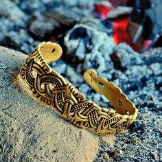 Viking bracelet in Mammen style along the lines of a historical model from the Isle of Man.  This impressive viking bangle is made after the famous