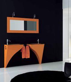 Doble lavabo con gran espejo