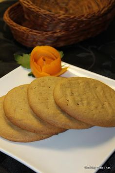Easiest Peanut Butter Cookies - Gluten Free and Dairy Free | Cooking with Thas