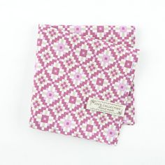 Beautiful and perfectly finished cotton pocket square with flower prints…