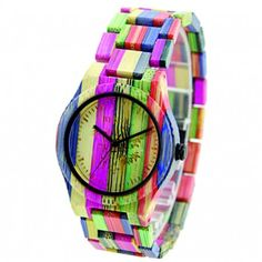 Cheap watch for, Buy Quality watch for female directly from China watch casual Suppliers: BEWELL Women Wood Watch Handmade Natural Colorful Bamboo Quartz Wristwatch Design Luxury Casual Watches for Female Simple Watches, Casual Watches, Cool Watches, Watches For Men, Women's Watches, Jewelry Watches, Wrist Watches, Retro Watches, Luxury Watches