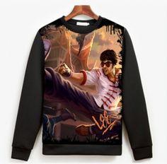 LOL Dragon Fist Lee Sin sweatshirt for men League of Legends sweatshirt XXXL