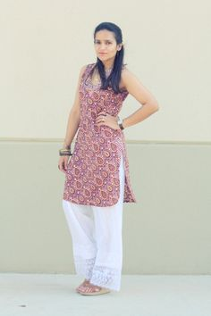 The fabulous life of not-so-rich and famous: Kurta/Tunic - Anokhi [Delhi, Pants - From a street vendor [Delhi, Shoes - Dolce Vita Casual Indian Fashion, Asian Fashion, Bollywood Fashion, Bollywood Style, Kurta Palazzo, Office Wear, Fashion Wear, Indian Wear, Casual Looks