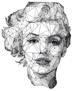 ภาพวาดพอร์เทรตแบบสร้างสรรค์จากเส้นปากกาล้วนๆ