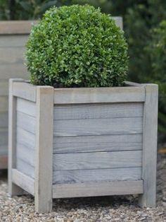 square wooden planter - Google Search