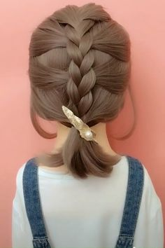 hair videos gray hairstyles over 50 hairstyles elegant hairstyles round chubby faces new hairstyles hairstyles with braids hairstyles with saree hairstyles tutorial Easy Hairstyles For Long Hair, Girl Hairstyles, Hairstyle Ideas, Waitress Hairstyles, Back To School Hairstyles Easy, Scrunchy Hairstyles, French Plait Hairstyles, Simple Braided Hairstyles, Scarf Hairstyles Short