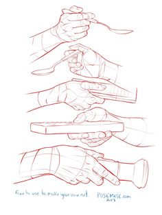 Pose Reference : posereference: Hi guys. hands holding stuff My. Drawing Techniques, Drawing Tips, Drawing Tutorials, Drawing Sketches, Drawing Hands, Hand Drawings, Painting Tutorials, Hand Drawing Reference, Anatomy Reference