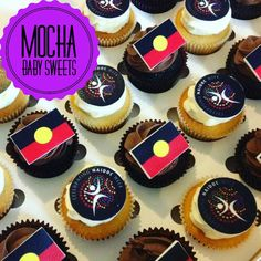 Edible Toppers for Naidoc Week. Aboriginal Flag and Naidoc Week Paintting.... all gluten free and edible.  Order your toppers from Sugar Art Edible Images today we post Australia Wide   Www.facebook.com/sugarartediblecakeimages