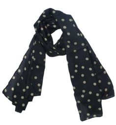 Pretty Black and Beige polka dot scarf only $2.19 shipped!!