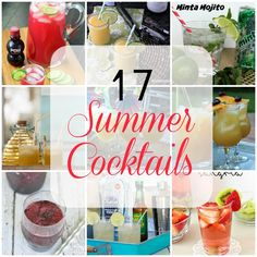 I love summer cocktails, don't you? I'm always on the hunt for new and easy to prepare recipes for entertaining and just for fun. If you're hosting a summer shindig and need some summer drink ideas to impress your guests, I have seventeen tasty ones to share with you today.