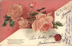 Rosen Gedicht Siegel Litho Kat. Pflanzen: Ansichtskarten-Center Onlineshop