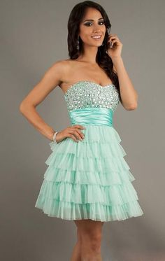 Strapless Sheath/Column Green Short Cocktail Formal Dress for Teens