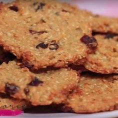 Zabpelyhes-almás keksz Healthy Cookies, Healthy Desserts, Sweet Desserts, Dessert Recipes, Diabetic Recipes, Healthy Recipes, Health Eating, Crunches, I Foods