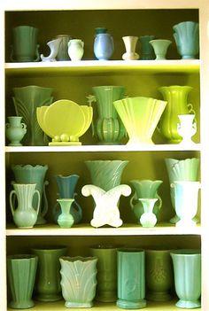 Vintage pottery vases - from Roseville Pottery, Antique Pottery, Mccoy Pottery, Pottery Vase, Ceramic Pottery, Vintage Planters, Vintage Vases, Vintage Ceramic, Vintage Antiques