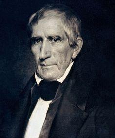William Henry Harrison, 9th President ~ 1841.  His grandson, Benjamin Harrison was our 23rd President.