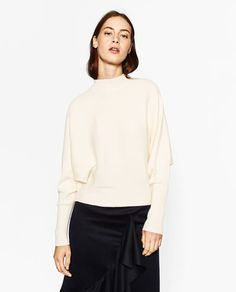 ZARA | Batwing sleeve sweater - Also available in black, grey and dark grey