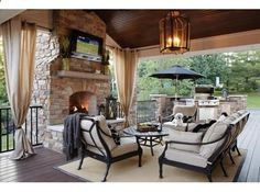 I dont really want my patio covered, but hubby does...I think I could live with this, though!
