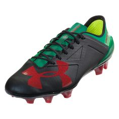 competitive price 7e091 ae738 Under Armour Spotlight 2.0 FG Soccer Cleat - Mexico Black Red Classic Green    SOCCER.COM