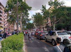 I festeggiamenti in centro a Palermo