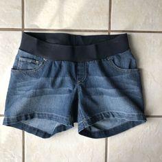 Oh Baby Motherhood Women's Maternity Flap Pocket Blue Denim Jean Shorts 6 Euc #OhBabybyMotherhood #Denim