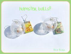 Hamster balls Earrings by Bojo-Bijoux.deviantart.com on @DeviantArt