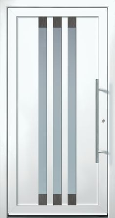 Modern Entry Doors - Modern Entry Door House Main Gates Design, Door Gate Design, Room Door Design, Wooden Door Design, Main Door Design, Modern Entrance Door, Modern Door, Entry Doors, Aluminium Door Design