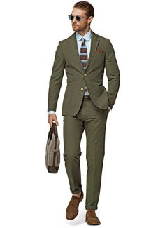 Hot Seller - Army Green 2-Button Suit For Men, Notch Lapel With Hand Stitching Size XXS-6XL Gender: Men Item Type: Suits Fit Type: Skinny Front Style: Flat Closure Type: Single Breasted Material: Cotton Pant Closure Type: Button Fly Workmanship: handmade full canvas suit Fabric Type: Twill PS: PLEASE SEND YOUR MEASUREMENTS, INCLUDING WEIGHT & HEIGHT WHILE PLACING YOUR ORDER Delivery 7-10 days via Aramex Size Cross Shoulder(cm) Chest Width(cm) Body Length(cm) Sleeve Length(cm) S 46.8 105 72…