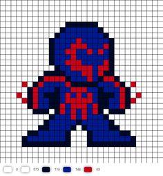 Spider-Man 2099 Perler Bead Pattern