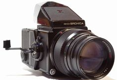BRONICA ETRS MEDIUM FORMAT CAMERA - COMPLETE RIG - VERY NICE!  LENS X 2 #Bronica