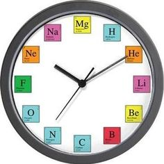 Periodic table science elements custom wall clock custom wall periodic table science elements custom wall clock custom wall periodic table and wall clocks urtaz Images