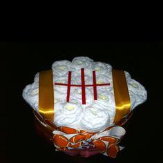 My Football Diaper Cake creation