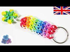 DIY Rainbow Loom Key Chains Cool Keychains with Rainbow Loom Charms Rubber Bands Pintura Facil Rainbow Loom Tutorials, Rainbow Loom Patterns, Rainbow Loom Creations, Rainbow Loom Bands, Rainbow Loom Bracelets, Rainbow Loom Keychain, Rainbow Loom Charms, Loom Love, Fun Loom