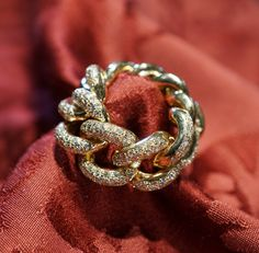 Groumette ring, pink gold 18 kt - diamonds - Dogale jewellery Venezia