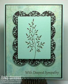 Card I made using Elegant Florals by Theresa Momber for Gina K Designs