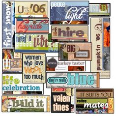 Roundup of Ideas and Tutorials for Scrapbook Page Titles.  Ideas and how-tos for coming up with and rendering titles on your digital and paper scrapbook pages =)