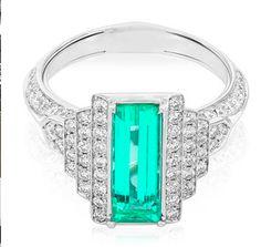 Muzo - Emerald with diamonds