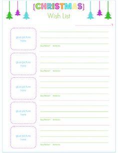 christmas gift list templates