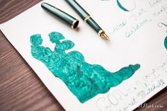 Fountain pens are great for sketching! Love this Gone With the Wind inspired art. Lydia used De Atramentis Petrol with a Platinum Balance Green. Want to try something like this!